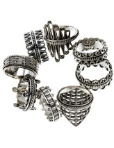 Sterling silver spinner rings, inspired by the traditional Tibetan Prayer Wheel.