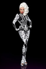 """""""This was the promo look for Season 10 [of Drag Race],"""" Zaldy says. """"I was at Burning Man sneaking away to my trailer (work and cell phones are not celebrated there!) to design this and communicate with the studio for a week to get this done!"""""""