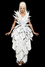 """Zaldy says, """"This dress just wanted to get bigger and bigger every time I passed it in the studio!"""""""