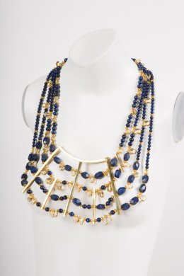Krakue's lapis and citrine necklace.