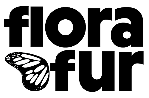 Flora Fur incorporated a monarch butterfly in their logo because monarch larvae feed exclusively on milkweed.