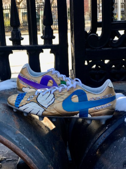 Yarden Sopher-Harelick's painted cleats