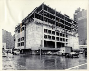 The Dubinsky Student Center under construction.