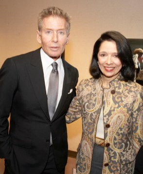 President Brown with Calvin Klein '63 in 2010.