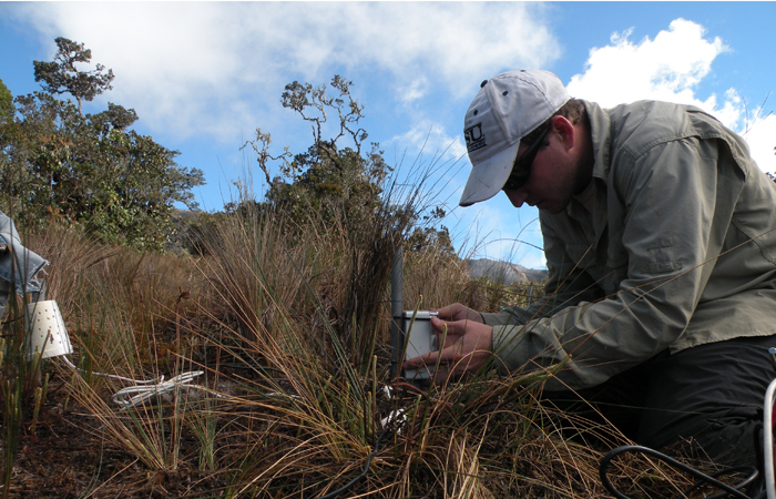 Biology researcher Evan Rehm has studied the tropical cloudforests of Manú National Park (Peru) for three years.