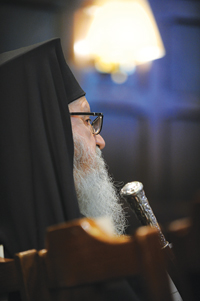 Archbishop Demetrios, primate of the Greek Orthodox Church in America, was one of several special guests in attendance. Photo by Chris Taggart
