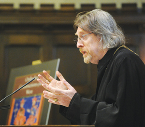 The Very Reverend John Anthony McGuckin, Ph.D., presented the ninth annual Orthodoxy in America lecture. Photo by Chris Taggart