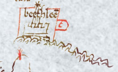Bethlehem, as shown on the 13th century map.