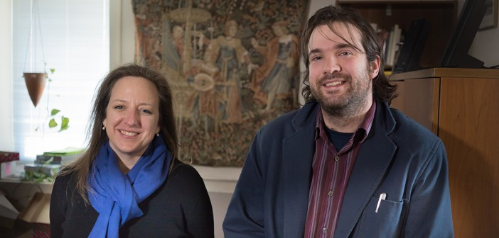 Laura K. Morreale, left, and Tobias Hyrnick, right.