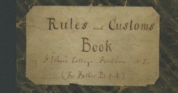 The cover of the Rules and Custom's Book (c. 1865)