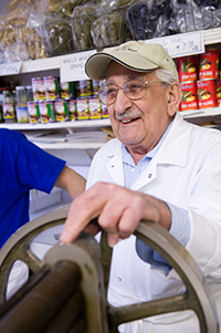 Since 1935, Mario Borgatti has been making fresh pasta cut to order at Borgatti's Ravioli & Egg Noodles, across the street from Our Lady of Mount Carmel Church.