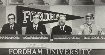In 1968, four Fordham undergraduates—Arthur F. McMahon, George Ellard, Edward B. Leahey Jr., and Richard Ouzounian—won $20,000 in scholarship money on the College Bowl TV quiz show.