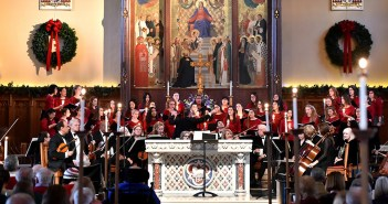 The Fordham University Choirs and the Bronx Arts Ensemble perform in the University Church during the annual Christmas Festival of Lessons and Carols, held December 4, 2016.