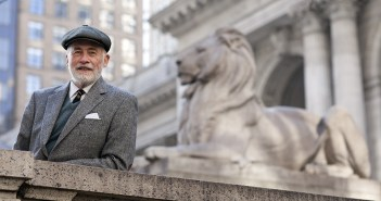 Novelist and Fordham alumnus Peter Quinn on the steps of the New York Public Library