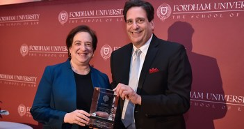 Elena Kagan and Matthew Diller pose for a picture