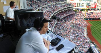 Charlie Slowes calling a Washington Nationals game
