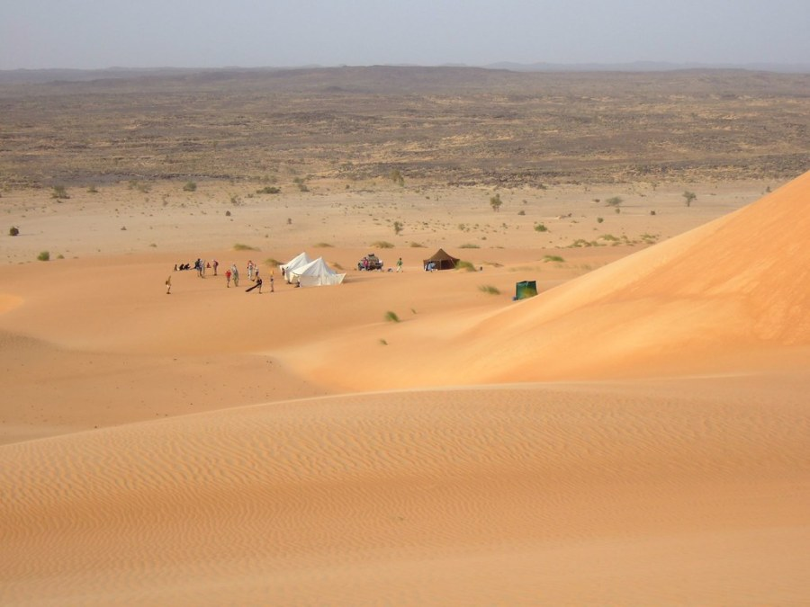 Due to droughts recurring since the mid-20th century, nearly 75 percent of Mauritania is covered  in desert or semi-desert landscapes. John Spooner, Flickr