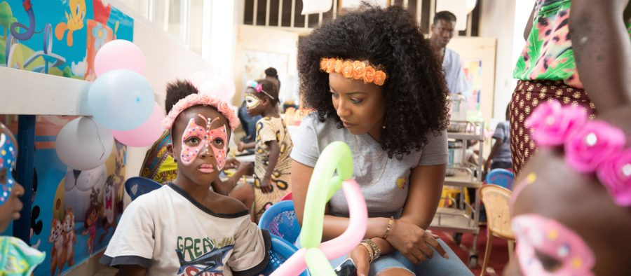 Dumas's foundation advocates on behalf of the health and rights of Africans children below the age of 16. Courtesy of Joselyn Dumas