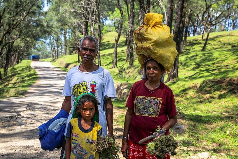 Cassava farmers, Indonesia