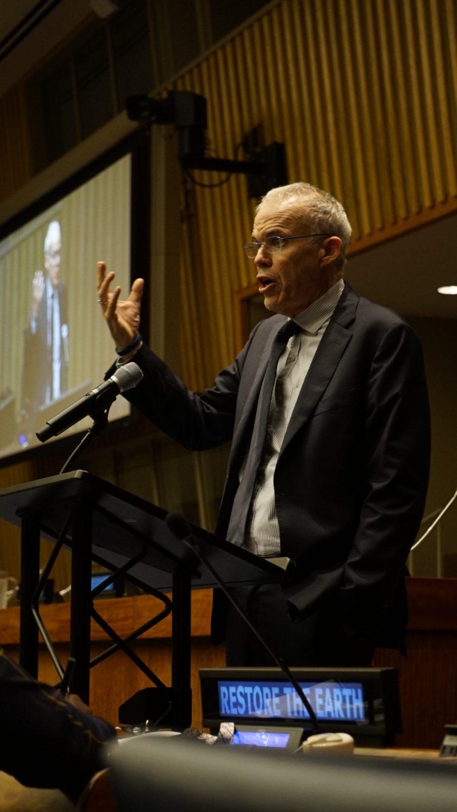 Bill McKibben, fondateur de 350.org et auteur prolifique sur le changement climatique. Justin K. Davey, GLF