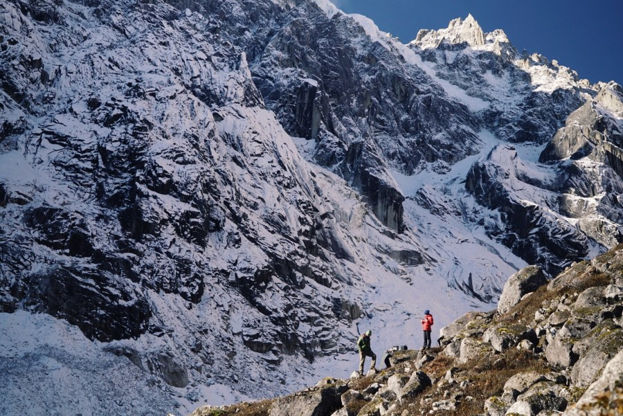 Near Hkakabo Razi in Myanmar, which a group of climbers attempted to summit in order confirm it as highest peak in Southeast Asia using GPS. Courtesy of Taylor Rees