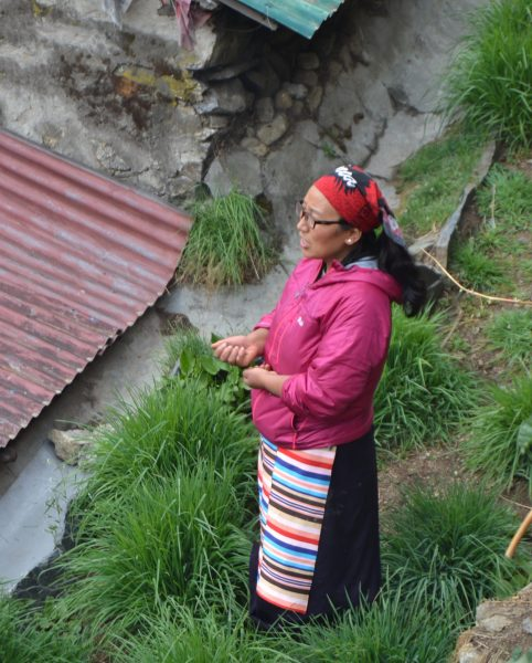 Nima near her guesthouse in Namche Bazaar. Courtesy of Nima Doma Sherpa