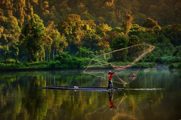 Fisherman, Indonesia