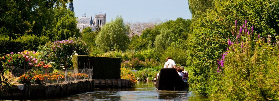 """Amiens, France, has been named a Ramsar Wetland Cities for its commitment to protecting the waterways that have earned it the nickname """"Venice of the North."""" Rien Honnef, Flickr"""