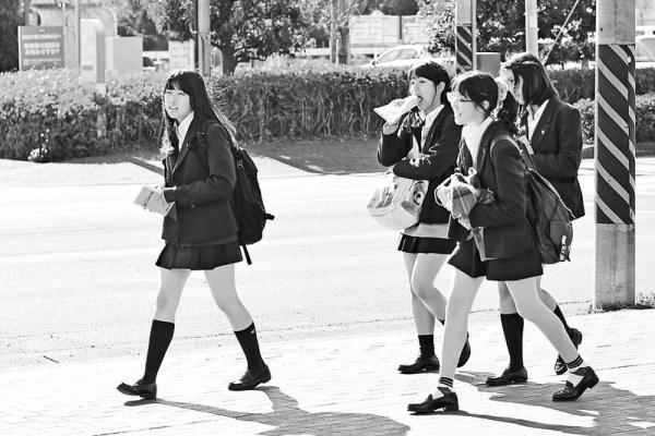 Schoolgirls in Japan
