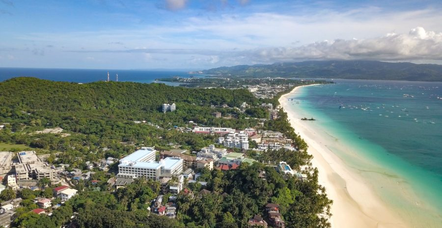 Boracay's White Beach and surrounding development. Justin K. Davey