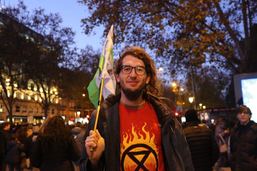 Isidre Castañé, Extinction Rebellion member. Melissa Kaye Angel, GLF