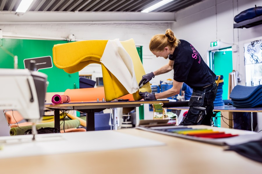 Customers can return rather than discard unwanted furniture to have it refurbished or reupholstered, cutting down on consumer waste. Courtesy of IKEA