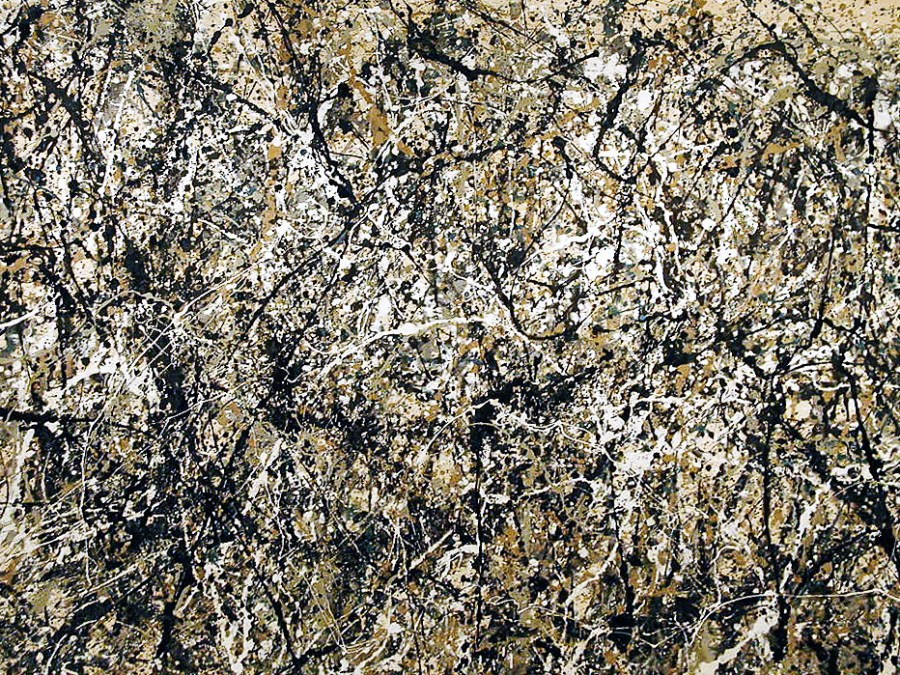 A drip-painting of abstract expressionist artist Jackson Pollock. Dale Cruse, Flickr