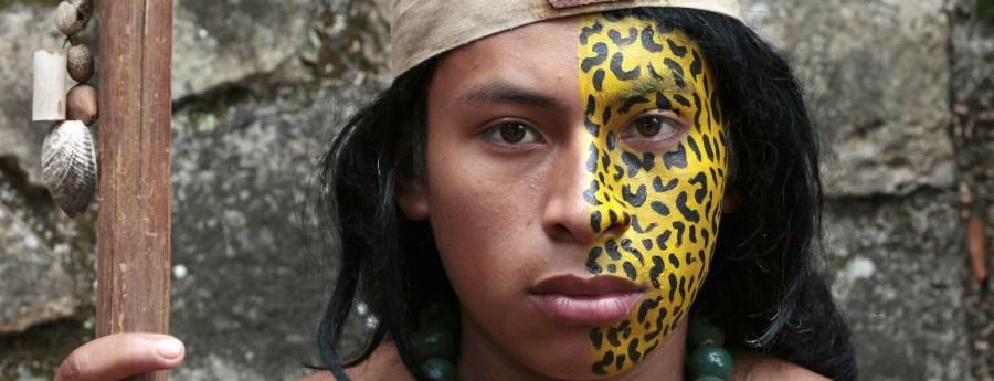 A portrait of a member of the Indigenous community in Copán Ruinas, Honduras. Evan Schneider, UN Photo