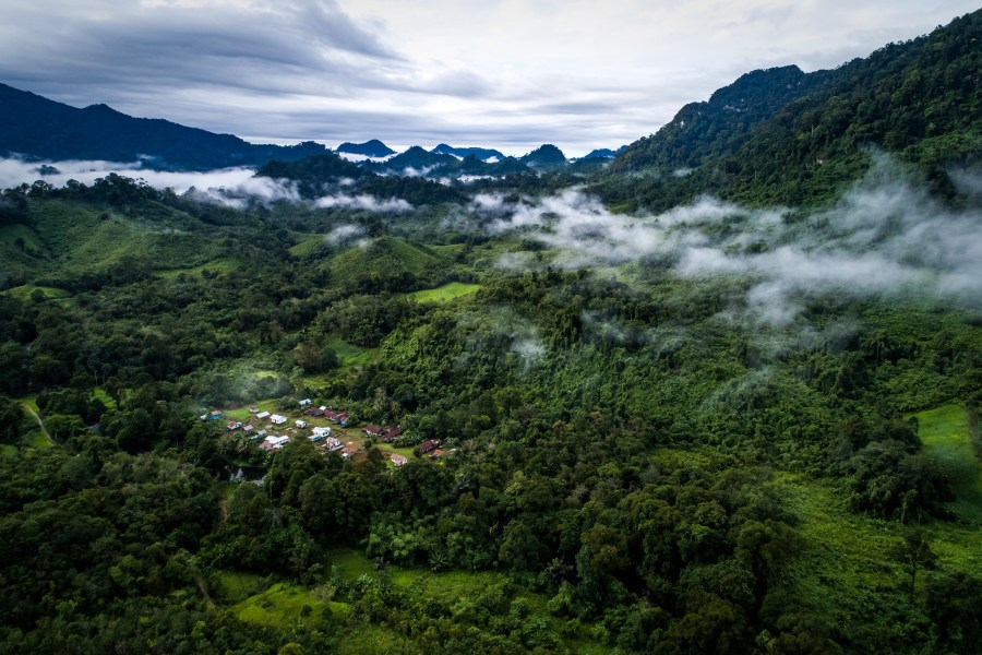 A village in West Kalimantan, Indonesia surrounded by tropical forest. Nanang Sujana, CIFOR