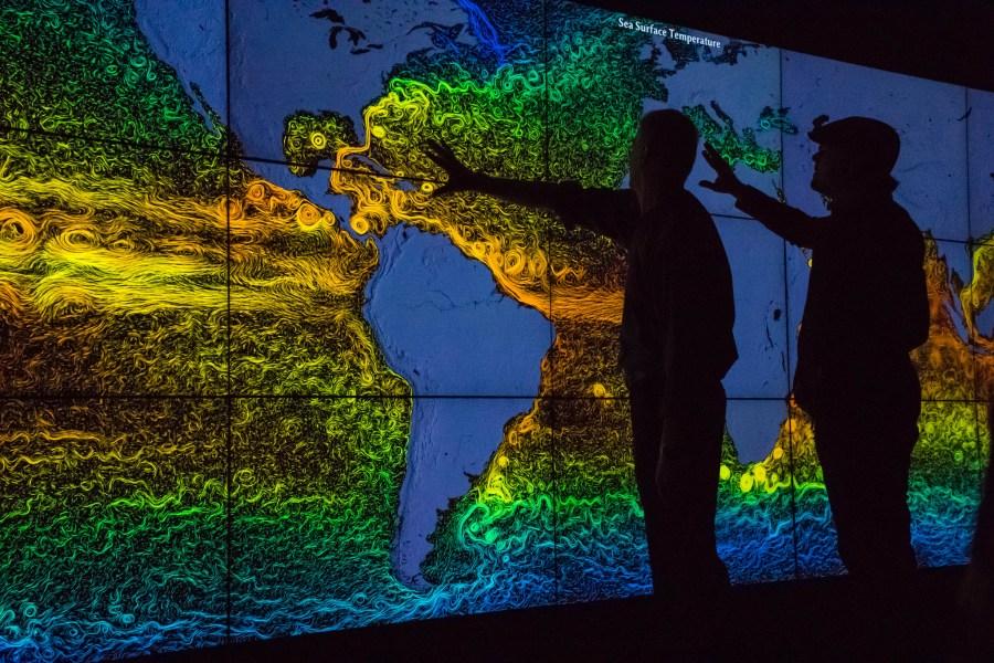 Leonardo DiCaprio, right, at NASA's Goddard Space Flight Center in Maryland, U.S. for a documentary on climate change. NASA Goddard Space Flight Center, Flickr