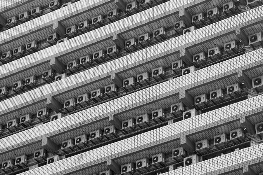 Air conditioning units often use hydrofluorocarbons, which are much more potent at warming the planet than carbon dioxide. Nico Kaiser, Flickr