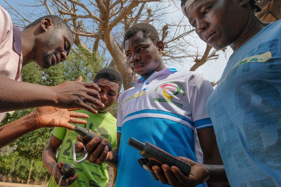 Un atelier cartographique organisé au sein d'une communauté ghanéenne. Axel Fassio, CIFOR