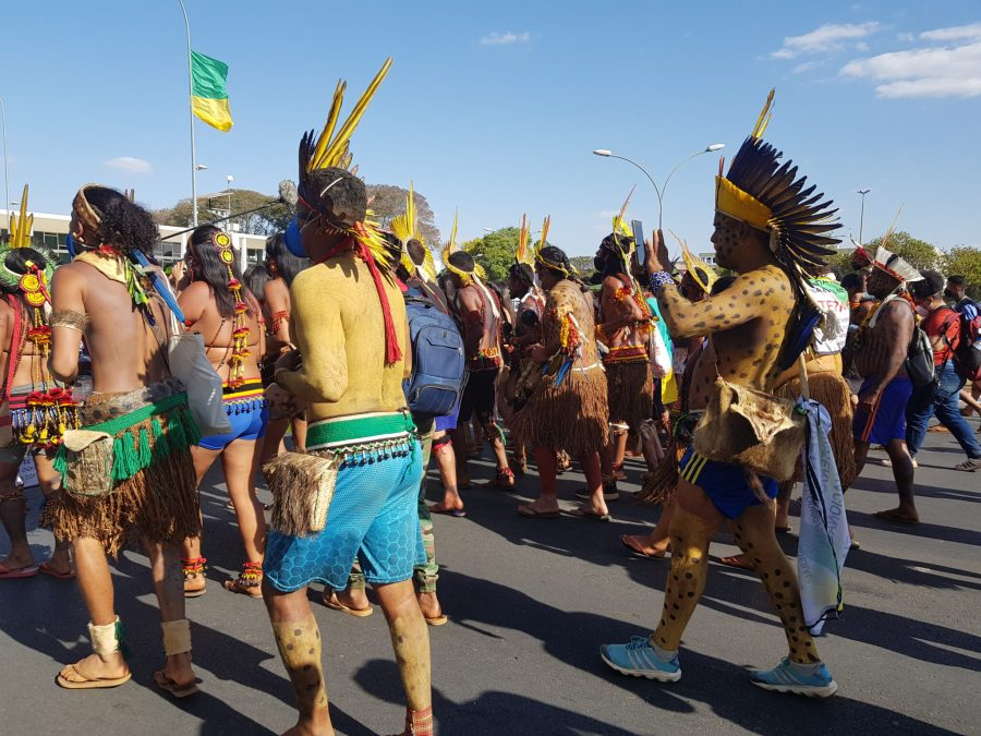 The protests are in response to a Supreme Court hearing that could set a historic precedent for Indigenous land rights in Brazil. Martha Fellows, Global Landscapes Forum