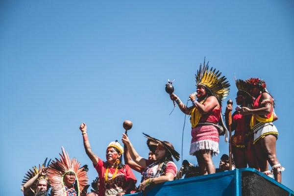 A march of Indigenous women led by APIB in 2019. APIB Comunicação