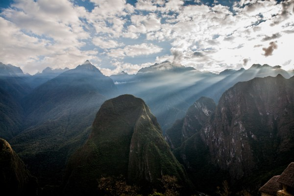 The valleys surrounding Machu Picchu in Peru lead to the Amazon on the right and the Andes on the left. Sandeep Achetan, Flickr