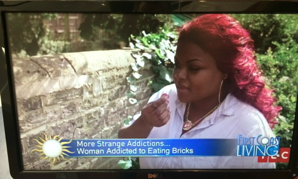 Jacksonville_Florida_First Coast News_Woman Addicted to Eating Bricks ??