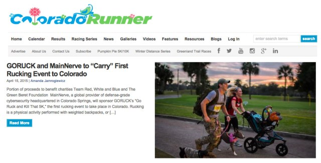 """ab9d7be77c936 Press  GORUCK and MainNerve to """"Carry"""" First Rucking Event to Colorado –  GORUCK News   Stories"""