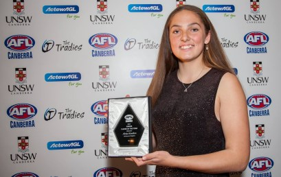 Lexi named the AFL Canberra Junior Women's Player of the Year!