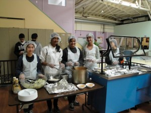 Sophomores Come Together for Community Service at InnVision Sorting, Cleaning, Gardening and in the Kitchen