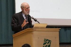 Internet Pioneer Vint Cerf Speaks to Special Upper School Assembly
