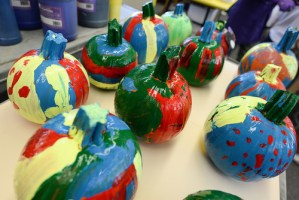 Grade 2 Students Deliver Colorful Painted Pumpkins to Neighbors