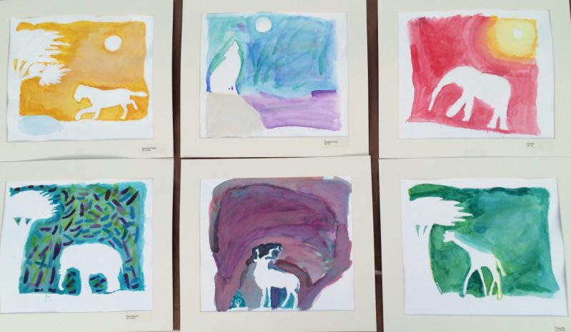 Lower School Art Students Work Expressively with Colors and Shapes