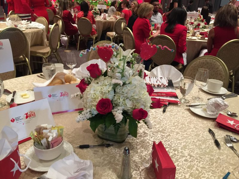 Grade 2 Students Create Centerpieces for Go Red for Women Fundraiser