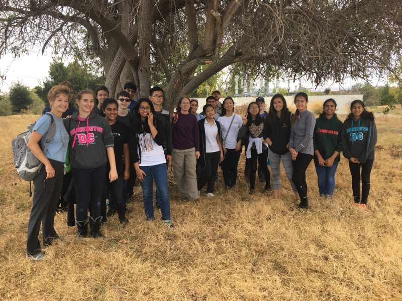 Harker students spend a Saturday morning helping clean up Guadalupe River Trail